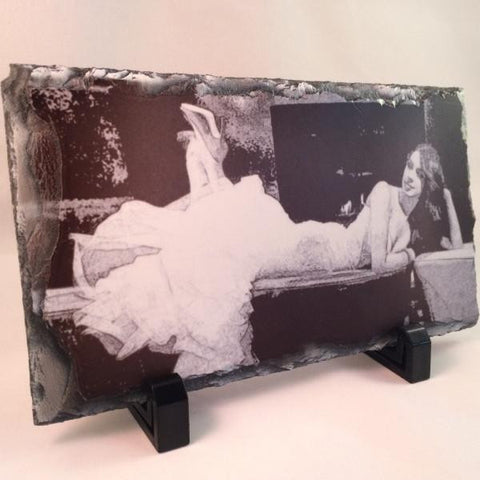 Picture of Photo Pencil Drawing on Long Rectangular Stone Slates