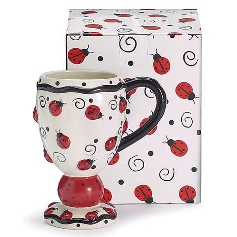 Picture of Lovely Ladybug Cappuccino Coffee Mug