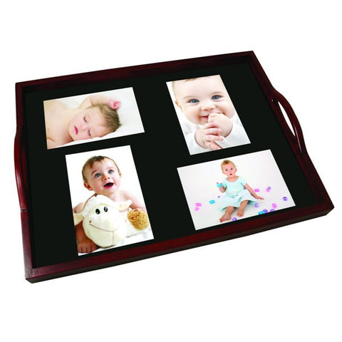 Picture of Mahogany Wood Photo Serving Tray