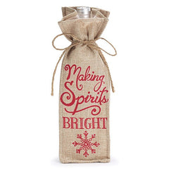 Making Spirits Bright Wine Bottle Gift Bag