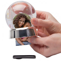 Mini Photo Snow Globe with Silver Base - 12 Pack