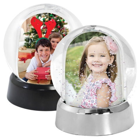Picture of Mini Photo Snow Globes - 2 Pack
