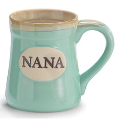 Mint Green Nana/Message 18 oz. Porcelain Mugs - 4 Pack