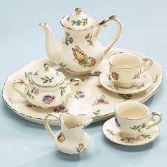 Morning Meadows Porcelain Insect Teaset Miniature - 8 pieces