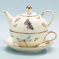 Morning Meadows Porcelain Stacked Teapot