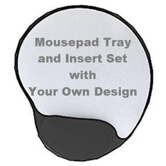 Mousepad Tray and Insert Set with Your Own Design