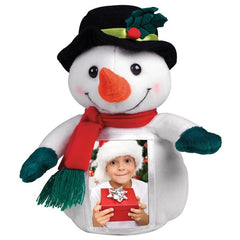 Mr. Frost Plush Snowman Picture Frame Ornament