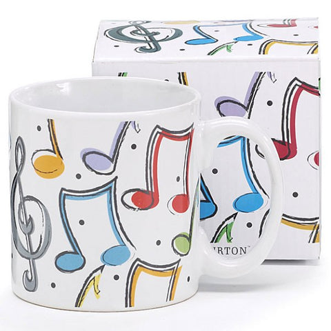 Picture of Music Notes 12 oz. Ceramic Mug