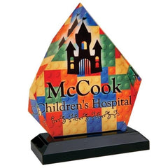 Obelisk Shaped Acrylic Plaques with Your Own Design