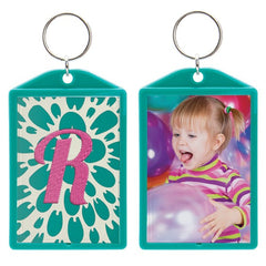 "Opaque Color Photo Keychains (2"" x 2-7/8"") - 6 Pack"