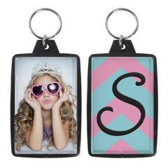 "Opaque Color Photo Keychains (1-3/4"" x 2-3/4"") - 6 Pack"