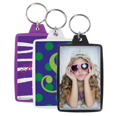 "Opaque Color Photo Keychains (1-3/4"" x 2-3/4"") - 3 Pack"