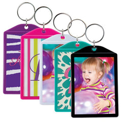 "Opaque Color Photo Keychains (2"" x 2-7/8"") - 4 Pack"