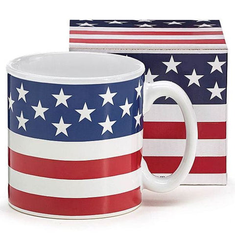 Picture of Patriotic Flag 13 oz. Ceramic Mugs - 6 Pack