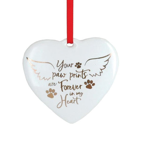 Picture of Paw Prints Forever In My Heart Ornament