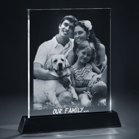Picture of 2D Photo Flat Crystal with LED Light Base