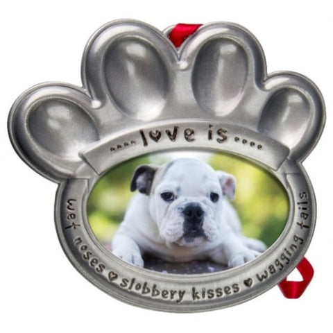 Picture of Pewter Pet Paw Photo Ornament