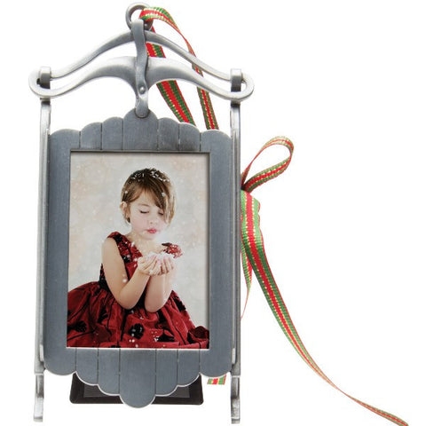 Picture of Pewter Sled Photo Ornament Frame