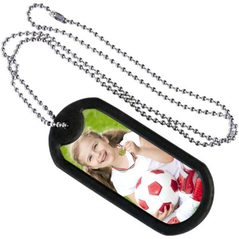 Picture of Photo Dog Tag Chains - 6 Pack