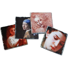 Stone Photo Slate Coaster Set