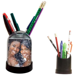 Photo Snow Globe Pencil Cup 6 Pack