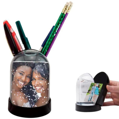 Picture of Photo Snow Globe Pencil Cup
