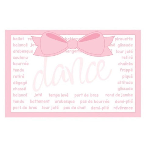 Picture of Pink Bow Dance Tour Jete Blank Enclosure Cards
