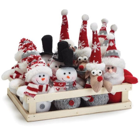 Picture of Plush Christmas Character Ornaments - 12  Pack