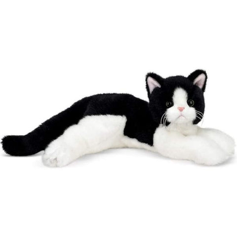 Picture of Plush Stuffed Black and White Cat Domino