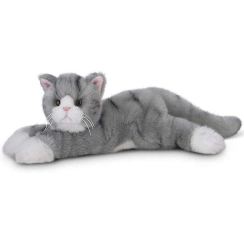 Picture of Plush Stuffed Gray Tabby Cat Socks