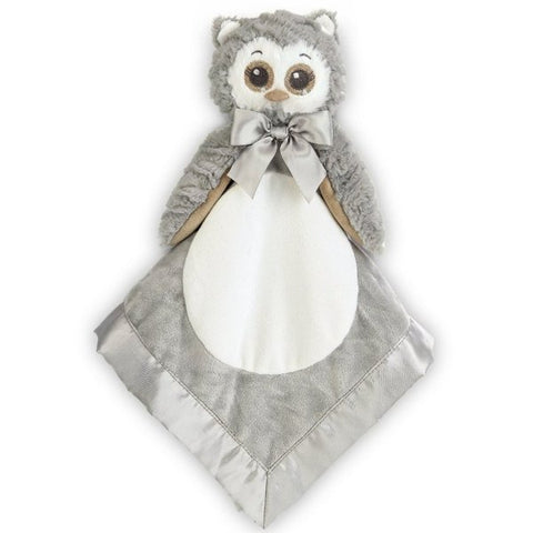 Picture of Plush Stuffed Animal Security Blanket Lil' Owlie Gray Owl Snuggler