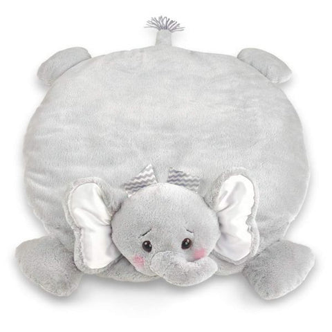 Picture of Plush Stuffed Animal Padded Play Mat Lil' Spout Gray Elephant Belly Blanket
