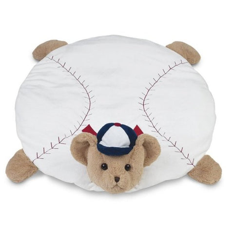 Picture of Plush Stuffed Animal Padded Play Mat Lil' Slugger Baseball Belly Blanket