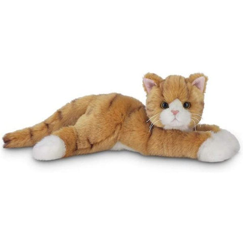 Picture of Plush Stuffed Light Brownish Orange Striped Cat Tabby
