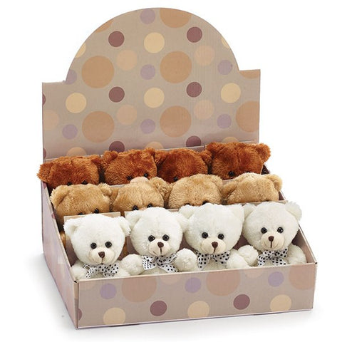 Picture of Plush Beige/Rust/White Bears - 12 Pack