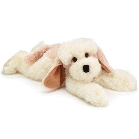 Picture of Plush Cream and Light Brown Lying Puppy