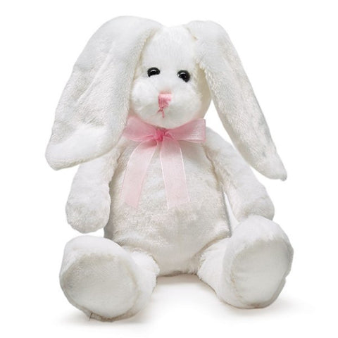 Picture of Plush White Bunny with Long Floppy Ears - 6 Pack