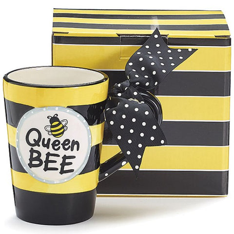 "Picture of Whimsical ""Queen Bee"" 13 oz. Ceramic Coffee Mug"