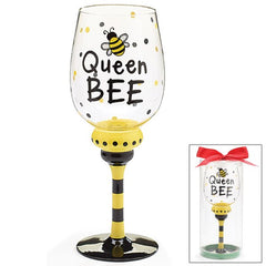 Queen Bee 16 oz. Wine Glass/Goblet