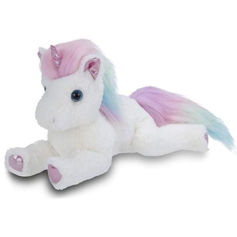 Picture of White Plush Stuffed Animal Unicorn Rainbow Shimmers