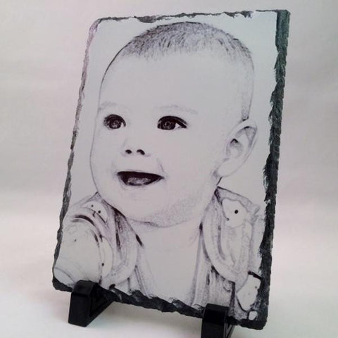 Picture of Photo Pencil Drawing on Rectangular Stone Slates