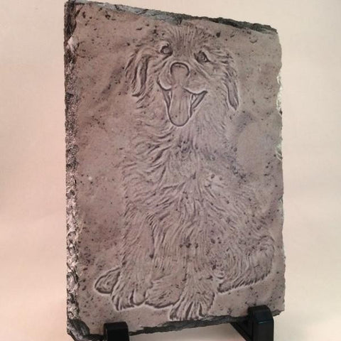 Picture of Photo Sandy Ground Drawing on Rectangular Stone Slates