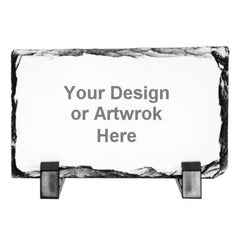 Rectangular Stone Photo Slates with Your Own Design