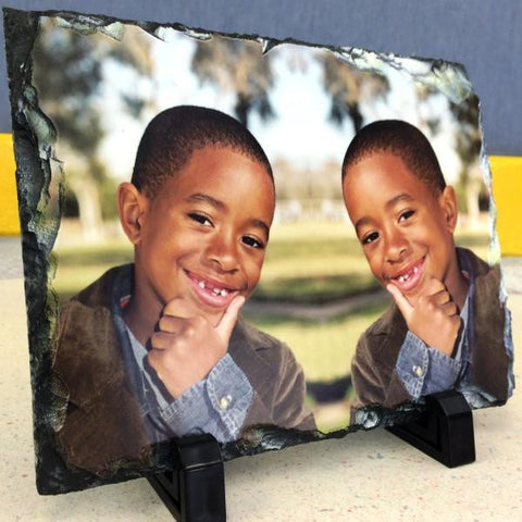 Picture of Mirror Image Printing on Rectangular Stone Slates