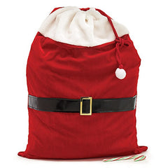 Red Velvet Santa Claus Gift Bags - 4 Pack