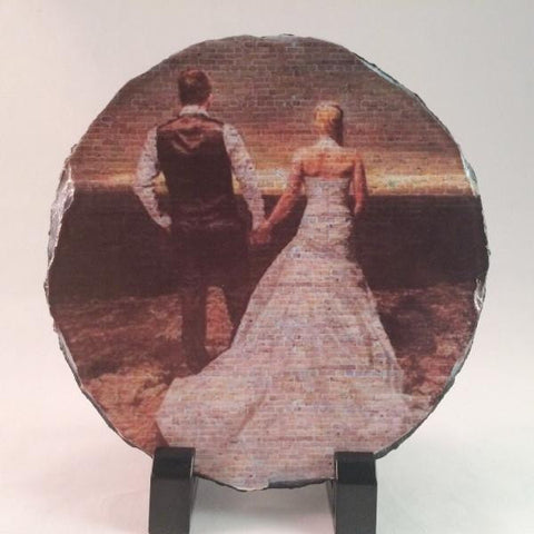 Picture of Photo Art Wall Printing on Round Stone Slates
