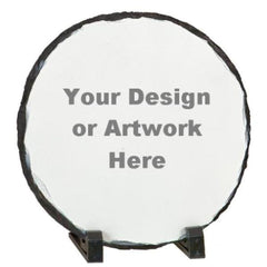 Round Stone Photo Slates with Your Own Design