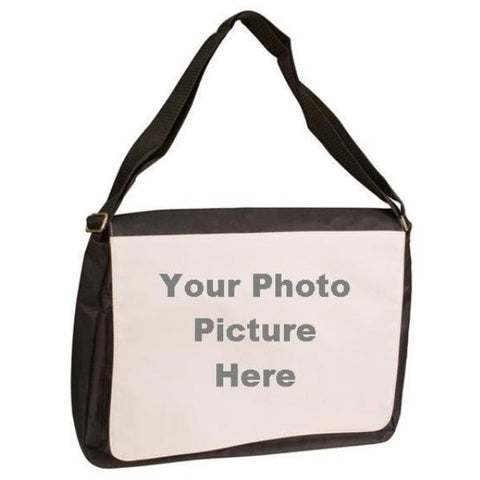 Picture of Black Shoulder Bag with Photo Picture Front Flap