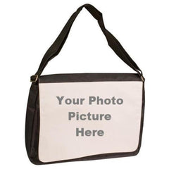 Black Shoulder Bag with Photo Picture Front Flap