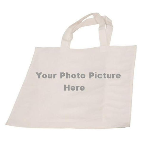 Picture of White Canvas Tote Bag for Your Picture